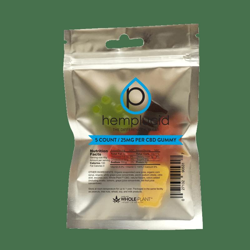 Hemplucid CBD Gummy in packet