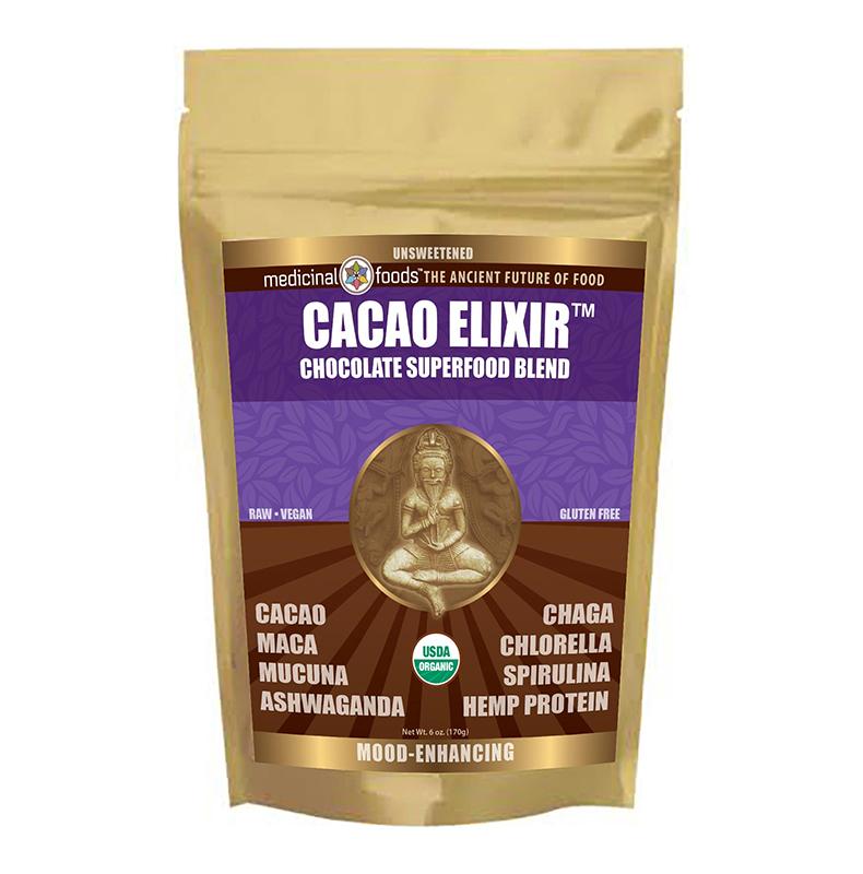 Cacao Elixir chocolate superfood blend vegan gluten free