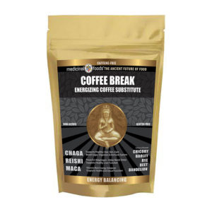 Coffee break energizing coffee substitute with CBD