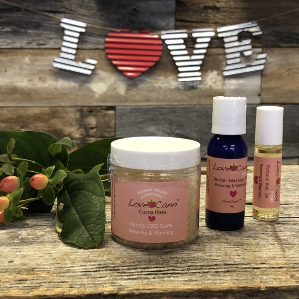 CBD LoveCann Gift Set by Herbal Relief Company for your valentine