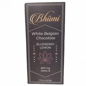Bhumi Delta 8 White Blueberry Lemon Chocolate Bar